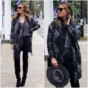 Tart Collection Plaid Sweater Coat